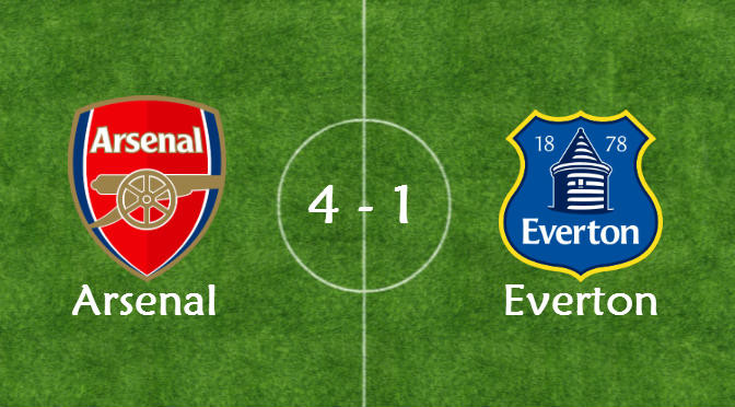 Arsenal vs everton 4-1 FA Cup